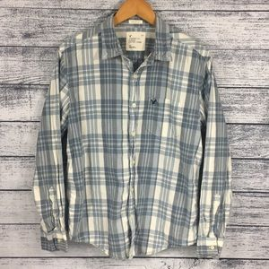 American Eagle Athletic Fit Plaid Button Down